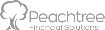 watermark version of logo of a tree next to the words Peachtree Financial Solutions